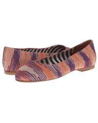 M Missoni | Pink Lurex Spacedye Shoe | Lyst
