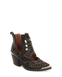 Jeffrey Campbell - Black Maceo Studded Ankle Boots - Lyst