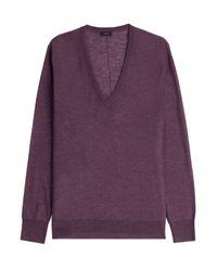 JOSEPH - Purple Cashmere Pullover - Mauve - Lyst