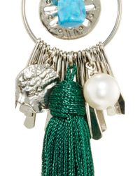 Oscar de la Renta | Tassel Charm Earring In Bottle Green | Lyst