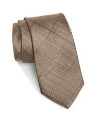 Michael Kors | Brown Windowpane Plaid Silk Tie for Men | Lyst