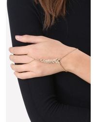 Bebe - Metallic Glam Chevron Hand Jewelry - Lyst