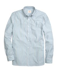 Brooks Brothers | Blue Wide Stripe Sport Shirt for Men | Lyst