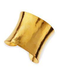 Herve Van Der Straeten | Metallic Epure Concave Gold Cuff | Lyst
