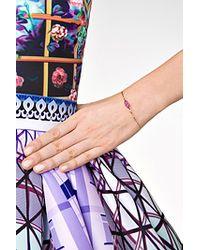 Delfina Delettrez | Metallic 18kt Gold Bracelet With Ruby Lips | Lyst