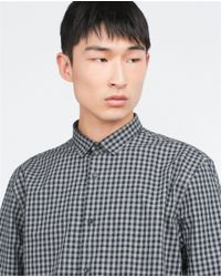 Zara | Blue Check Shirt for Men | Lyst