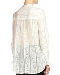 Erdem - White Tabitha Lace Button-bib Top - Lyst