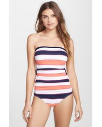 Tommy Bahama | Blue Rugby Stripe One-piece Swimsuit | Lyst