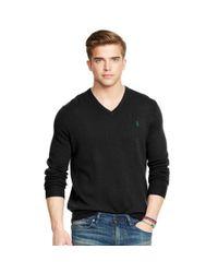Polo Ralph Lauren   Black Cable-knit Cotton Sweater for Men   Lyst