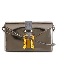 Christopher Kane - Metallic Safety Buckle Crossbody Bag - Lyst