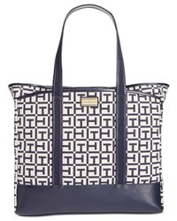 Tommy Hilfiger | White Ashley Signature Large Tote | Lyst