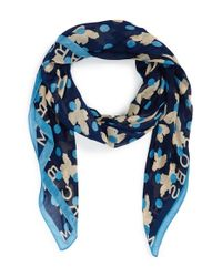 Marc By Marc Jacobs - Blue 'Dotty Flora' Scarf - Lyst