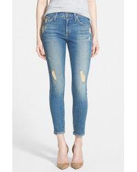 James Jeans - Blue 'twiggy' Ankle Skinny Jeans - Lyst