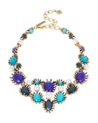 Oscar de la Renta | Blue Aqua Star Resin Bib Necklace | Lyst