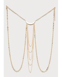Bebe | Metallic Half Moon Body Jewelry | Lyst