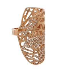 Repossi | Metallic White Gold Diamond Twin Ring | Lyst