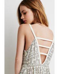 Forever 21 | Natural Floral Ladder-back Dress | Lyst