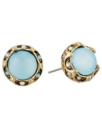 Betsey Johnson - Blue Weave And Sew Earrings - Lyst