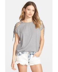Volcom | Gray 'love You Knot' Tee | Lyst