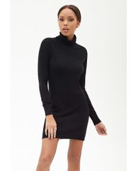 Forever 21 - Black Turtleneck Sweater Dress - Lyst