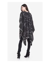 Express - Gray Reversible Southwestern Print Blanket Cover-up - Lyst