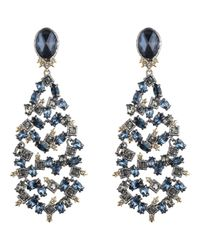 Alexis Bittar - Blue Elements Dark Alchemy Crystal Articulated Chandelier Clip-on Earrings - Lyst