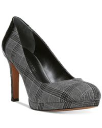 Franco Sarto | Gray Sheena Platform Pumps | Lyst