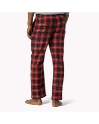 Tommy Hilfiger - Red Cotton Pant for Men - Lyst