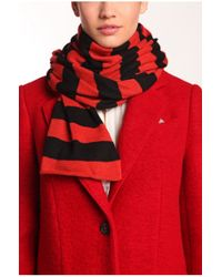 BOSS Orange - Red Knitwear Scarf 'walea' - Lyst