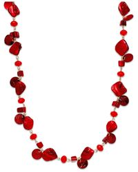 INC International Concepts | Gold-tone Red Shell Rope Necklace | Lyst