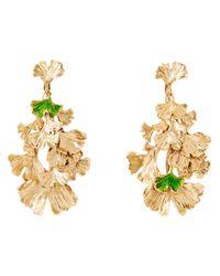 Aurelie Bidermann - Metallic Ginkgo Leaf Earrings - Lyst