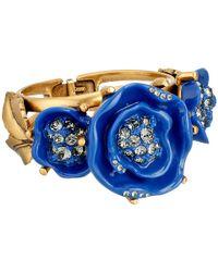 Oscar de la Renta | Blue Resin Rose Bracelet | Lyst