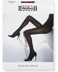 Wolford | Black Velvet De Luxe 66 Denier Tights | Lyst