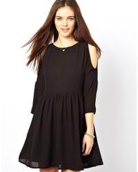 Glamorous | Black Cold Shoulder Dress | Lyst