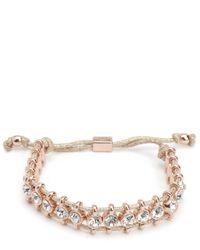 Juicy Couture | Pink Rhinestone Friendship Bracelet | Lyst