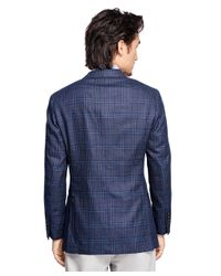 Brooks Brothers - Blue Regent Fit Plaid Sport Coat for Men - Lyst