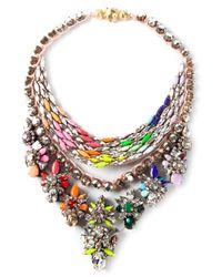 Shourouk - Multicolor River Cosmic Necklace - Lyst