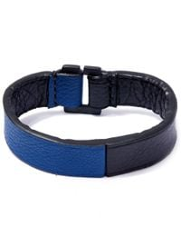 George Frost | Blue Equus Leather Bracelet | Lyst
