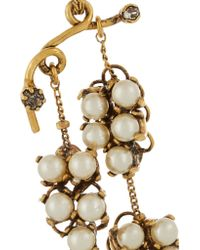 Erickson Beamon - Metallic Grapes Of Wrath Gold-plated, Swarovski Crystal And Faux Pearl Earrings - Lyst