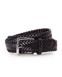 Cole Haan - Black Braided Belt for Men - Lyst
