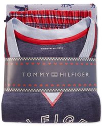 Tommy Hilfiger - Blue Boxer Shorts And Pajama Pants Gift Set - Lyst