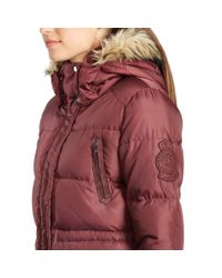 Ralph Lauren | Purple Removable-hood Down Coat | Lyst