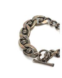 Tobias Wistisen - Metallic Skull Chain Bracelet for Men - Lyst