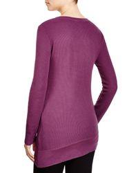 Splendid | Purple Asymmetrical Thermal Top | Lyst