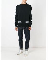 Off-White c/o Virgil Abloh - Black Logo Print Sweatshirt for Men - Lyst