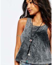 ASOS - Black Western Tassel Necklace - Lyst