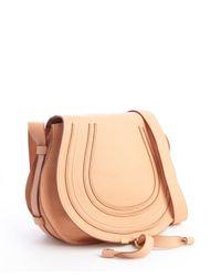 Chloé - Orange Coral Sand Calfskin Marcie Crossbody Bag - Lyst