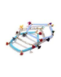 Shashi | Blue Turquoise Lilu Crystal Bracelet | Lyst