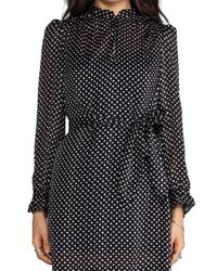 Marc By Marc Jacobs - Minette Print Dress in Black - Lyst