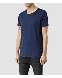 AllSaints - Green Warn Crew T-shirt for Men - Lyst
